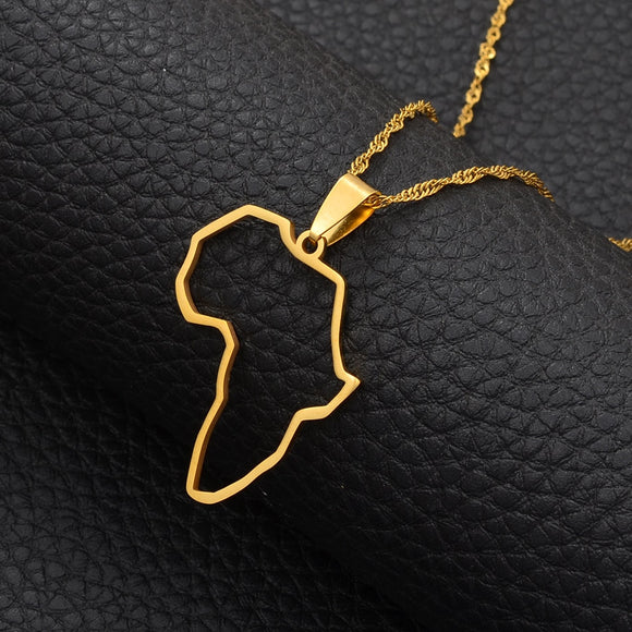 Africa outline Pendant Necklaces