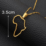 Africa outline Pendant Necklaces Silver/Gold Color