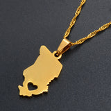 Chad Map Pendant Necklaces