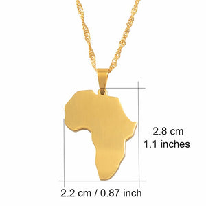 Classic Africa Map Necklace Pendant