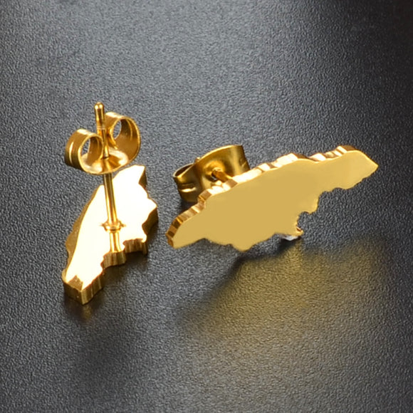 Jamaica Map Stud Earrings