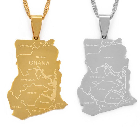 Ghana 'With State Name' Necklace