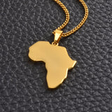 Print text on Africa Map Necklaces