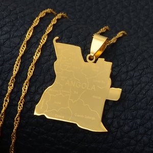 Angola with city names Necklaces