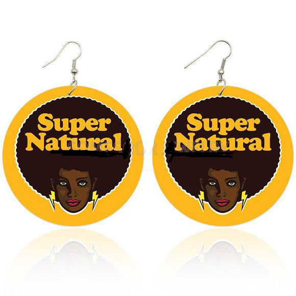 Super Natural Wooden Earrings