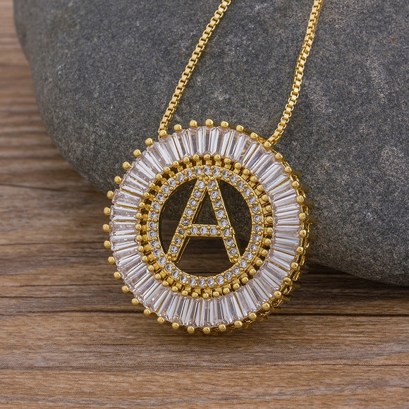 Initial Letter Pendant Necklaces