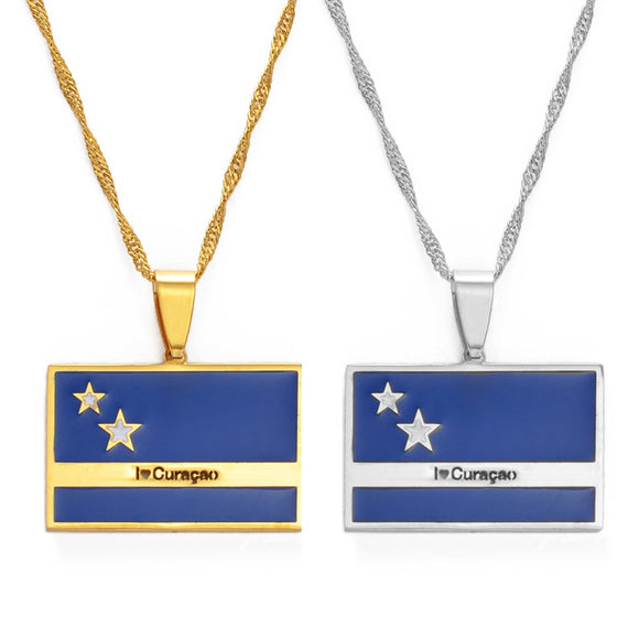 Curacao Flag Necklaces