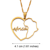Heart Africa Necklace