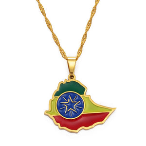 Small Ethiopia Pendant Necklaces