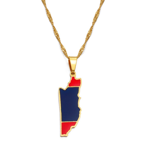 Belize Flag Pendant Necklace