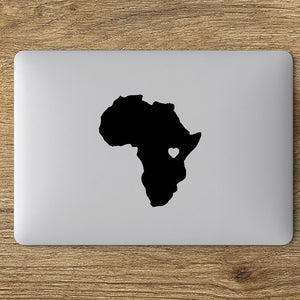 Africa Heart Laptop Vinyl Sticker