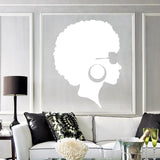 Afro Vinyl Wall Stickers