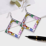 Geometric Drop Acrylic Earring
