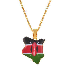 Kenya Flag Necklace