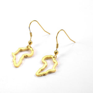 African outline Dangle Earrings
