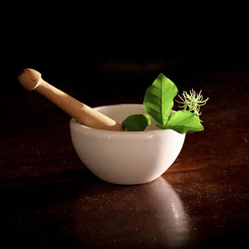White Mixing bowl with flower