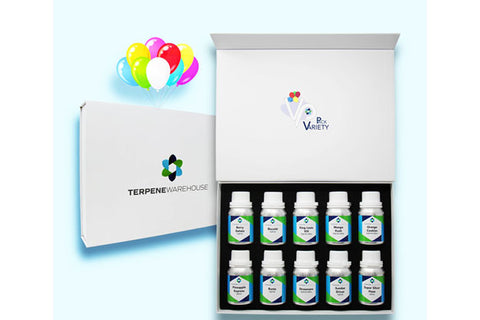 terpene warehouse variety pack package and product