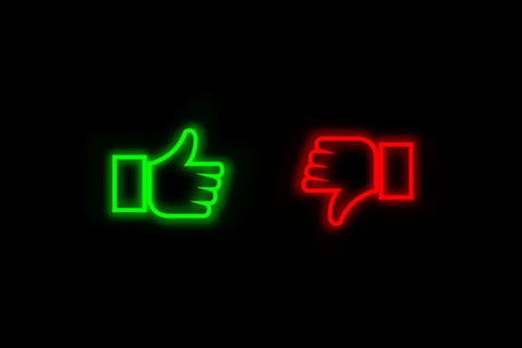 thumbs up and down image