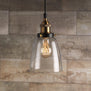 Fiorentino Factory Pendant Lamp with Clear Glass Shade