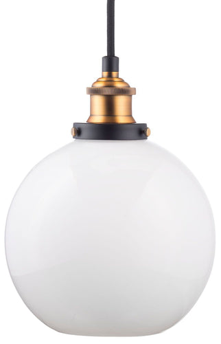Primo Industrial Pendant Lamp with Milk Glass