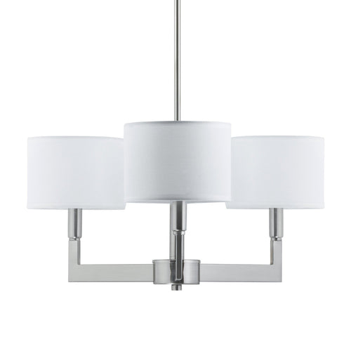 Allegro 3-Light White Chandelier