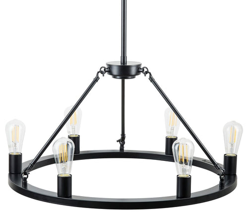 Sonoro Vertical Light Industrial Round Chandelier