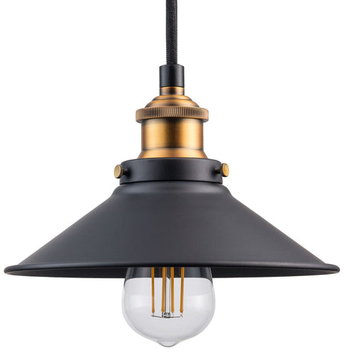 Andante Industrial Pendant Lamp with LED Bulb