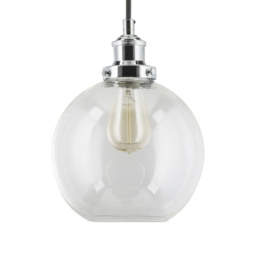 Primo Industrial Glass Pendant Lamp