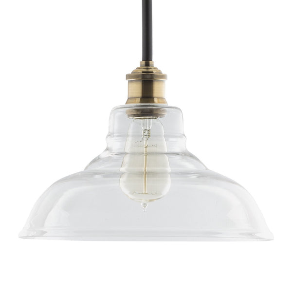 Lucera Factory Pendant with Glass Shade