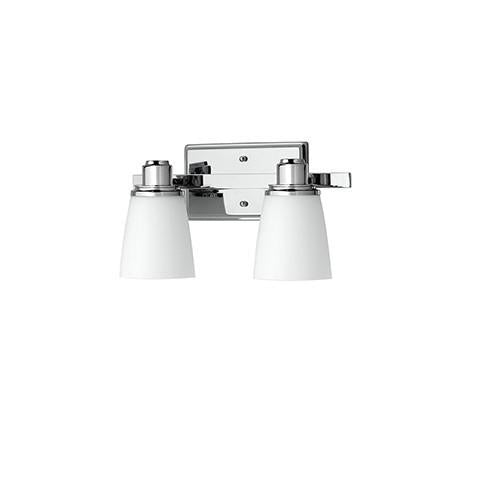 Terracina Two-Light Vanity Lamp - Polished Chrome with Opal Glass