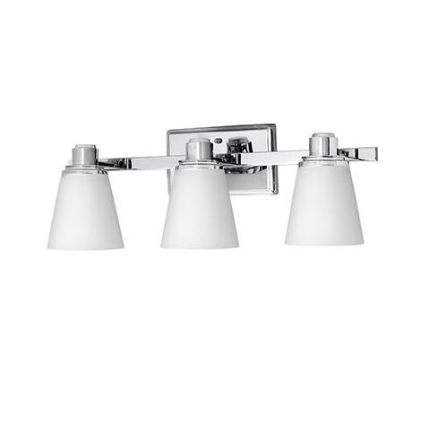Terracina Three-Light Vanity Lamp - Polished Chrome with Opal Glass