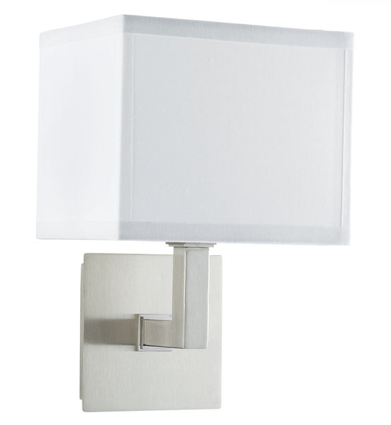 Sofia Wall Sconce One Light Lamp with White Fabric Shade