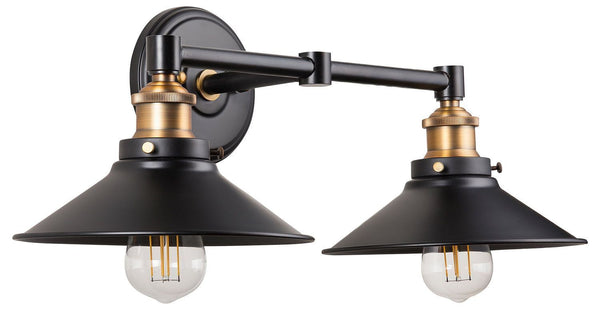 Andante Industrial Two Light Vanity with LED Bulbs