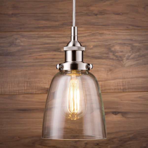 Fiorentino Factory Pendant Lamp with LED Bulb
