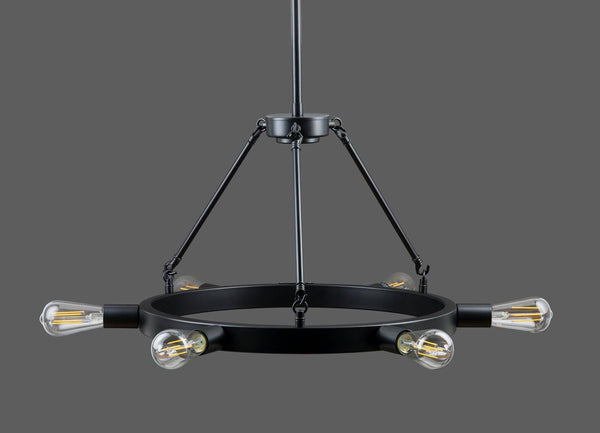 Sonoro Horizontal Light Industrial Round Chandelier