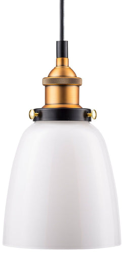 Fiorentino Factory Pendant Lamp with Milk Glass