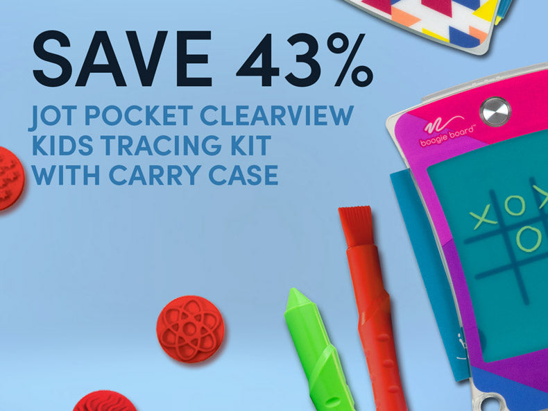 Save 43% on Jot Pocket Clearview  Kids Tracing kit with carry case