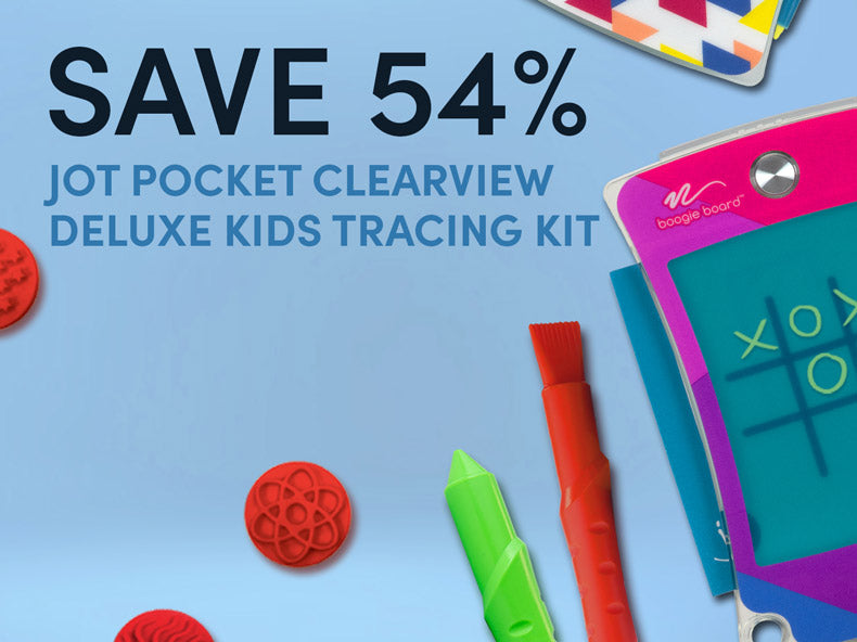 Save 54% on Jot Pocket Clearview Deluxe Kids Tracing it
