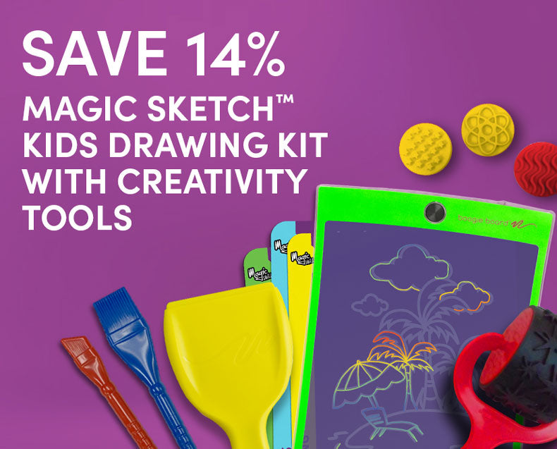 Save 14% on Magic Sketch Kids Drawing Kit with Creativity Tools