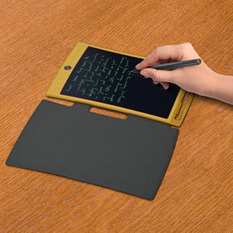Jot on table - person writing on it