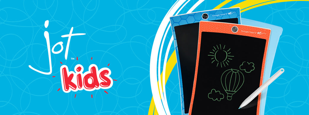 Jot Kids Writing Tablet banner image Jot Kids with writing