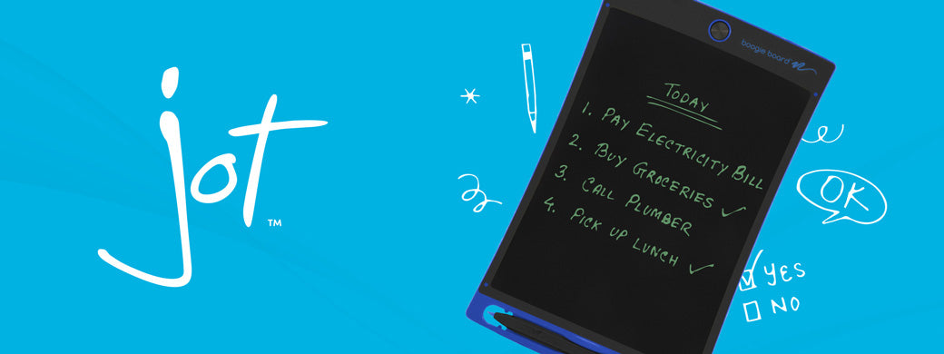 Jot Writing Tablet banner image Jot with writing