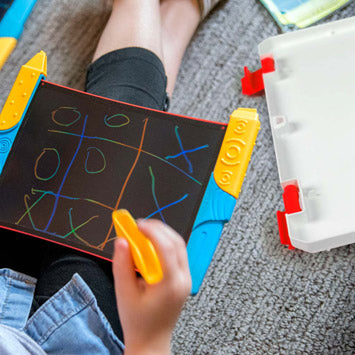 Scribble Play Kids Drawing Tablet with Case Tic Tac Toe