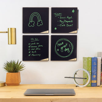 VersaTiles Memo Boards Four Onyx on Wall