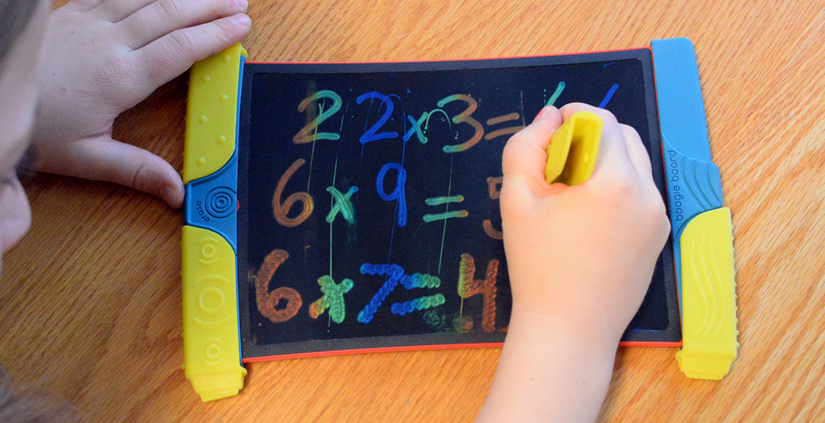 overhead view of Scribble n' Play with Math