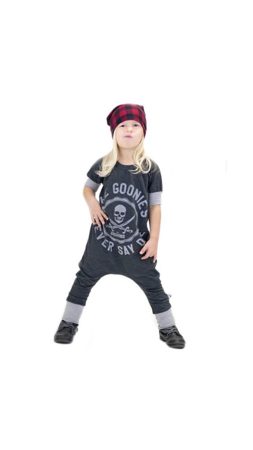 The Goonies Never Say Die Romper/Dress/Hoodie, Short Sleeve Romper Option