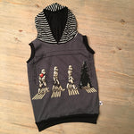 Mamas Boy Friday the 13th Scary Romper/Dress/Hoodie, Sleeveless Hoodie Example