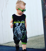 Metallica Classic Heavy Metal Romper/Dress/Hoodie, Short Romper on Model