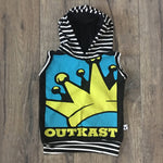 Outcast Hip Hop Romper/Dress/Hoodie, Sleeveless Hoodie Example