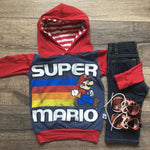 Super Mario Classic Video Game Romper/Dress/Hoodie, Hoodie Flat Lay